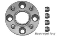 HR podložky pod kola (1pár) ROVER 75 rozteč 100mm 5 otvorů stř.náboj 56,1mm -šířka 1podložky 20mm /sada obsahuje montážní materiál (šrouby, matice)